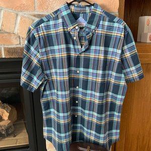 NWT Merona plaid shirt sleeve button down shirt